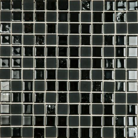 glasmozaïek, mozaïek, zwart, tegels op net, op vlies, badkamertegel, douche, Tilestone mozaïek
