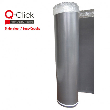 Q-Click Reduction Sound Ondervloer - 15m²/rol