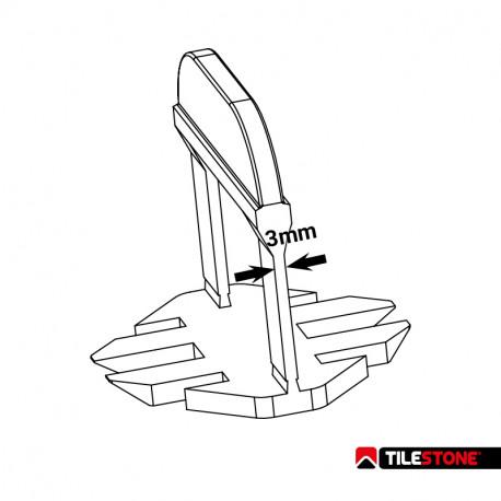 Tilestone Level System Clips 3mm - 500st