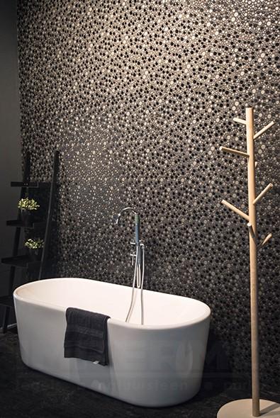 Glasmozaiek in badkamer badkamer mozau iuml ek koop goedkope aliexpress koop zwart wit for Kies een badkamer tegel
