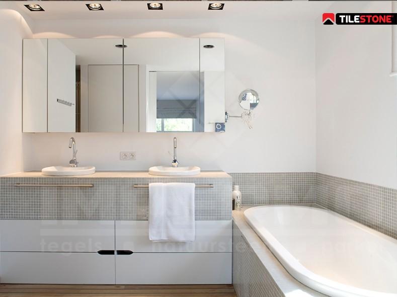Mozaiek badkamer goedkoop krijg goedkoop steen tegels badkamer aliexpress wandtegels mozaiek - Mozaiek blauwe bad ...