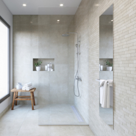 The advantages and disadvantages of a walk-in shower